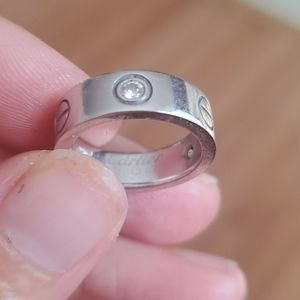 Cartier Other - Cartier white gold ring w/ dia